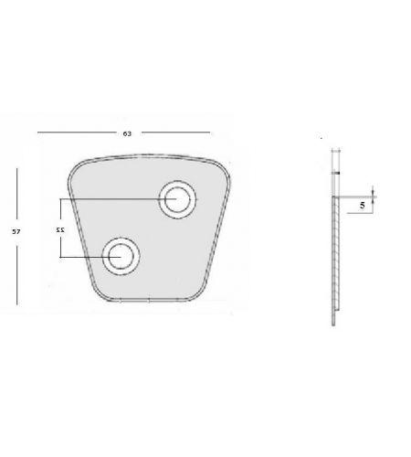 ΜΕΤΑΛΛΙΚΑ ΠΛΑΚΑΚΙΑ ΔΙΣΚΩΝ ΜΙΒΑ 63x57x4.4