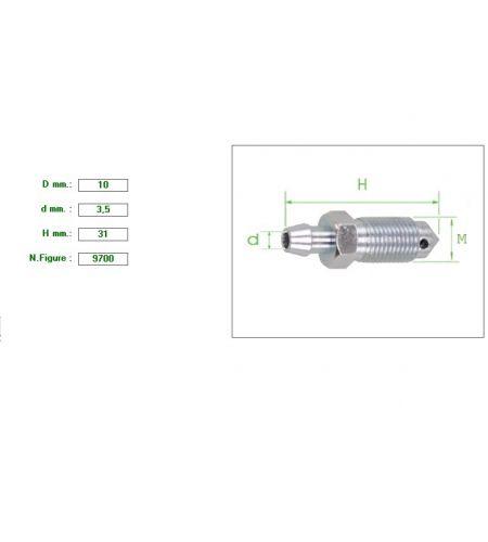 ΕΞΑΕΡΩΤΗΡΑΣ ΔΑΓΚΑΝΑΣ Μ10 ΚΛΕΙΔΙ 10  ΧΟΝΤΡΟ ΠΑΣΟ 1.5mm ΓΕΡΜΑΝΙΚΟΥ ΤΥΠΟΥ 10X3.5X31