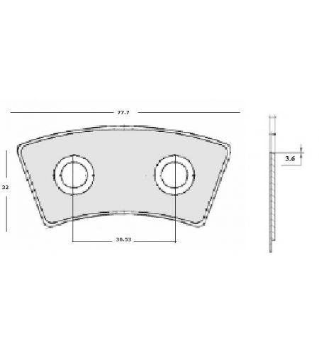 ΜΕΤΑΛΛΙΚΑ ΠΛΑΚΑΚΙΑ ΔΙΣΚΩΝ ΜΙΒΑ  32x77x3.6