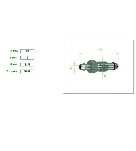 ΕΞΑΕΡΩΤΗΡΑΣ ΔΑΓΚΑΝΑΣ Μ10 ΚΛΕΙΔΙ 11  ΣΤΕΝΟ ΠΑΣΟ 1mm ΑΓΓΛΙΚΟΥ ΤΥΠΟΥ 10X3X41.6
