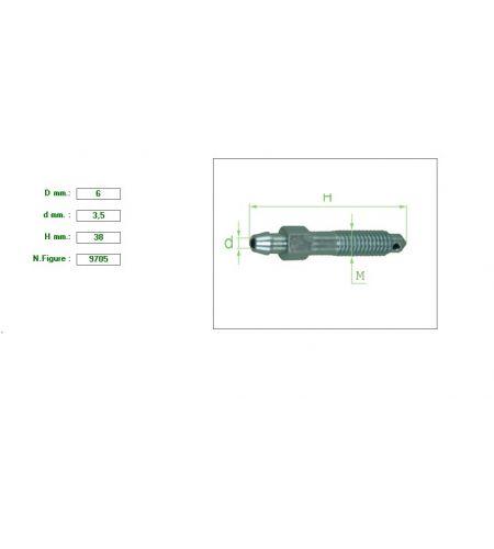 ΕΞΑΕΡΩΤΗΡΑΣ ΔΑΓΚΑΝΑΣ M6 ΚΛΕΙΔΙ 7 ΣΤΕΝΟ ΠΑΣΟ 1mm ΑΓΓΛΙΚΟΥ ΤΥΠΟΥ 6X3.5X38