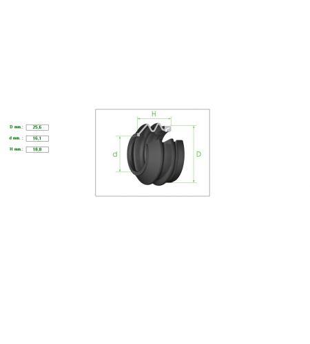 ΦΥΣΟΥΝΑΚΙ ΔΑΓΚΑΝΑΣ 25.6-16.1mm H18.8